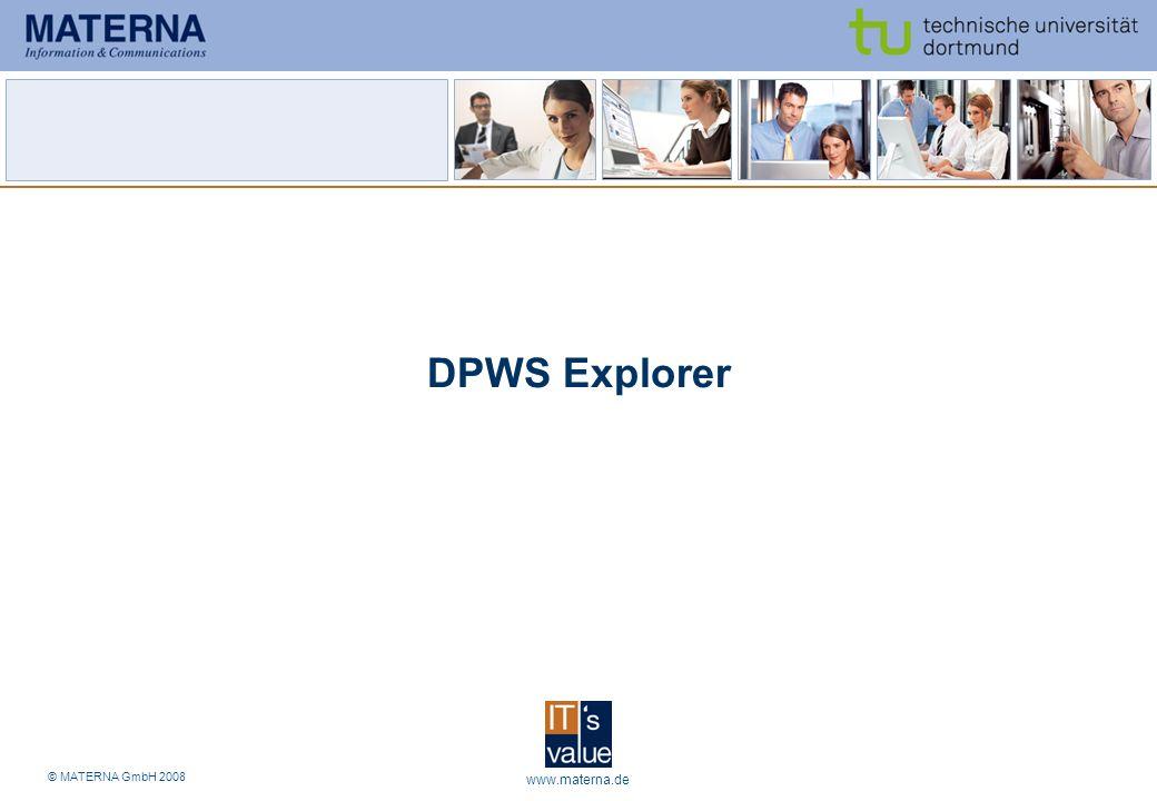 DPWS Explorer www.materna.de