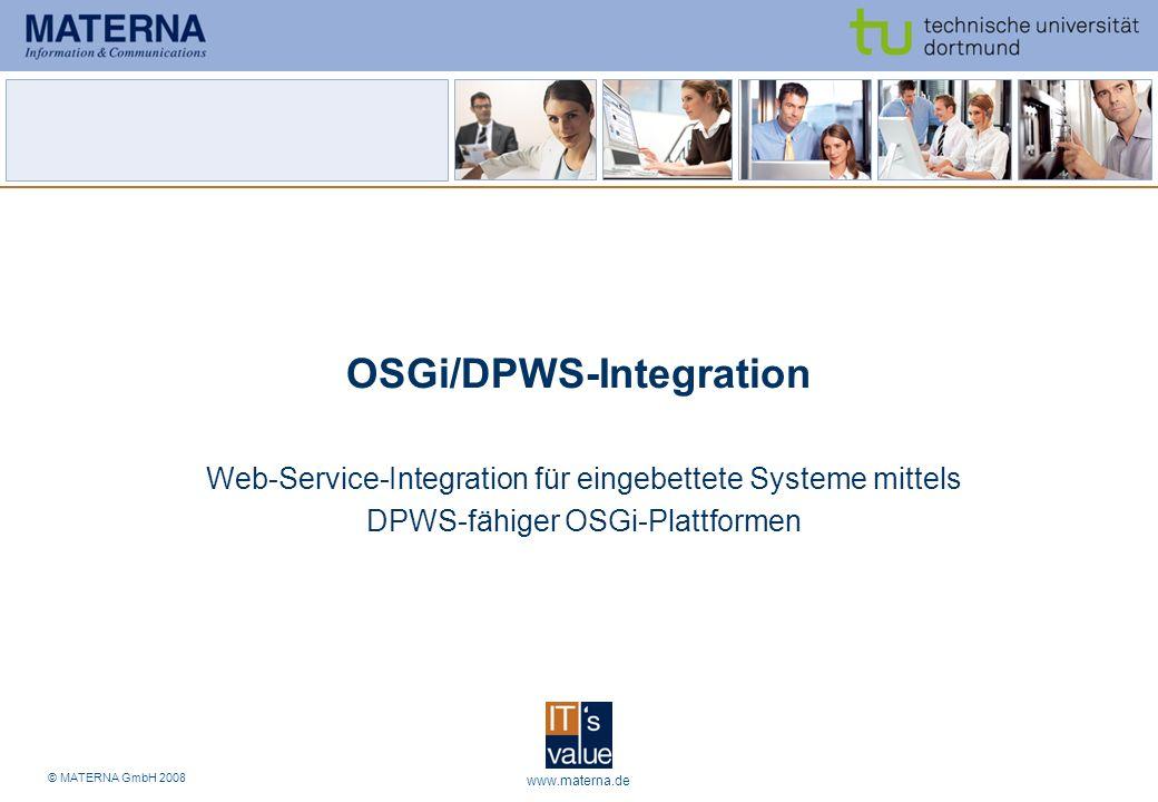 OSGi/DPWS-Integration