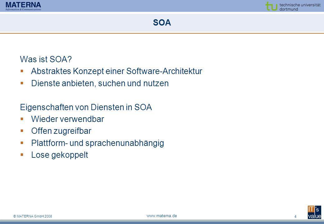 Abstraktes Konzept einer Software-Architektur