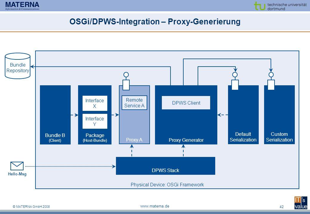 OSGi/DPWS-Integration – Proxy-Generierung