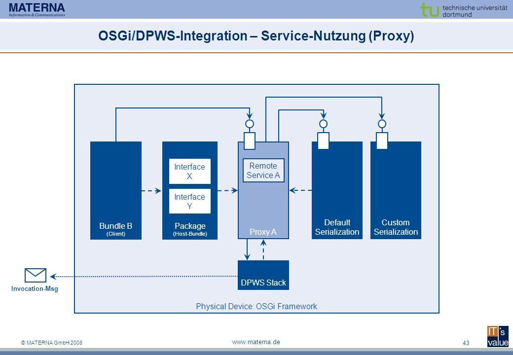 OSGi/DPWS-Integration – Service-Nutzung (Proxy)