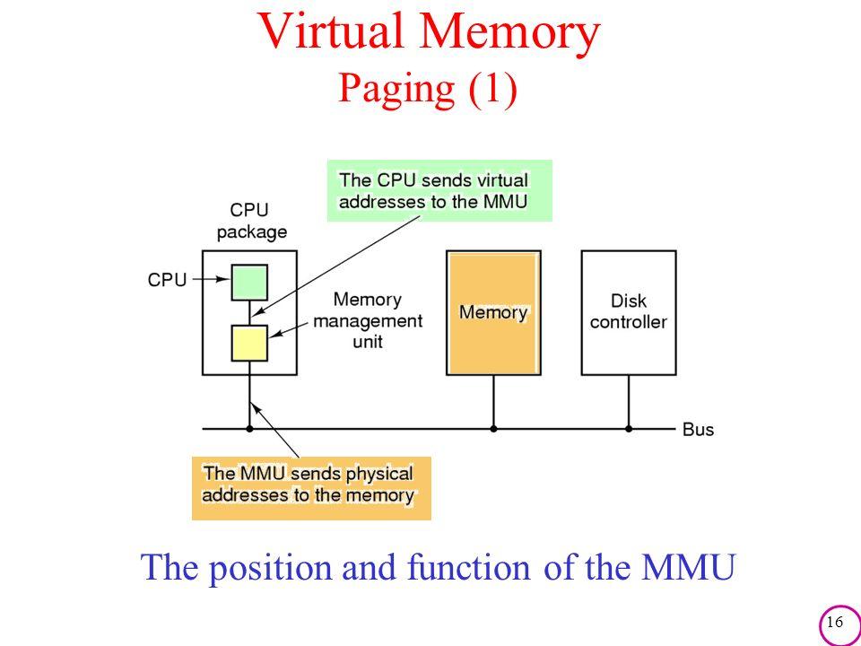 Virtual Memory Paging (1)