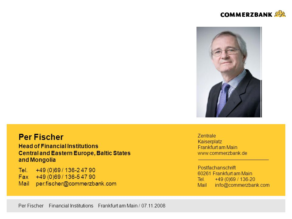 Per Fischer Head of Financial Institutions
