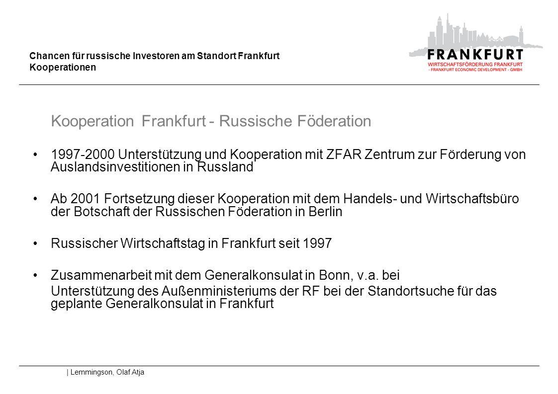 Kooperation Frankfurt - Russische Föderation