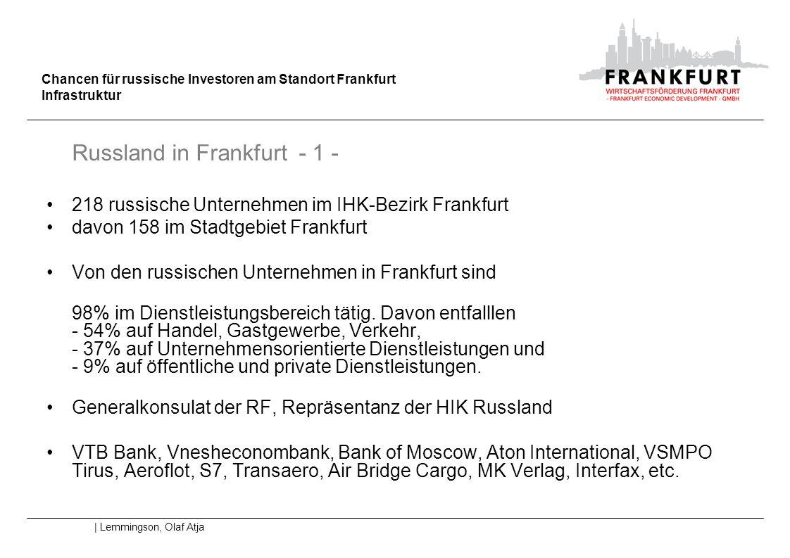 218 russische Unternehmen im IHK-Bezirk Frankfurt