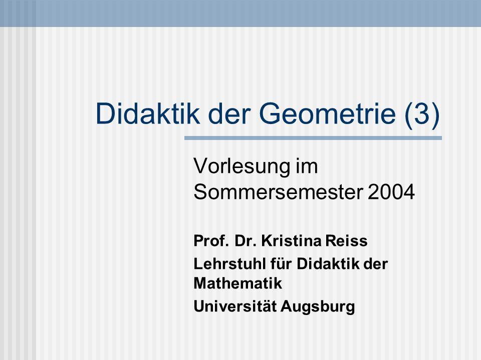 Didaktik der Geometrie (3)