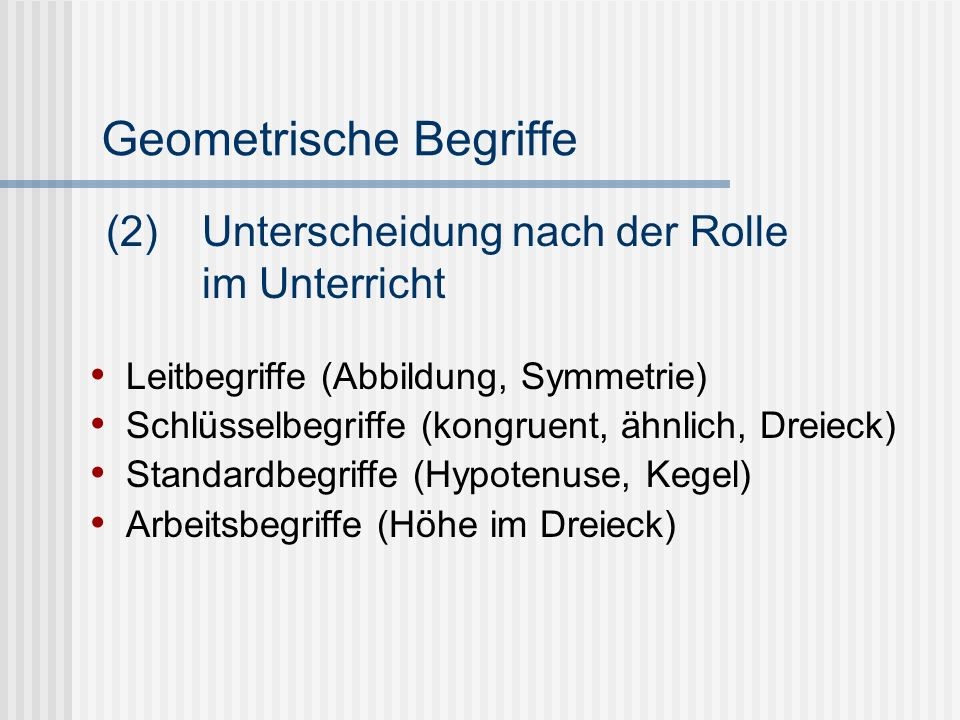 Geometrische Begriffe