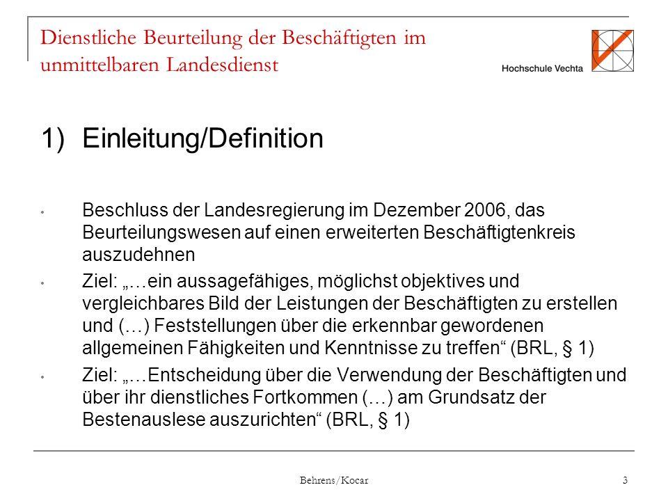 1) Einleitung/Definition
