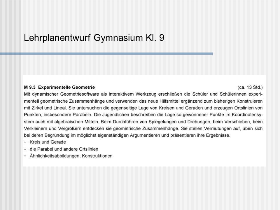 Lehrplanentwurf Gymnasium Kl. 9