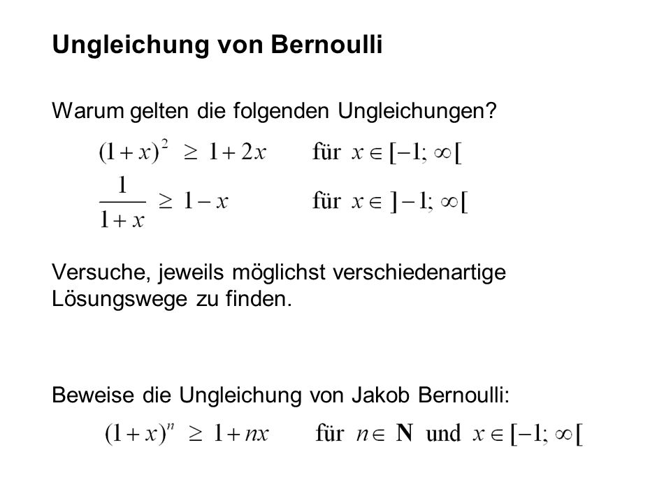 Ungleichung von Bernoulli