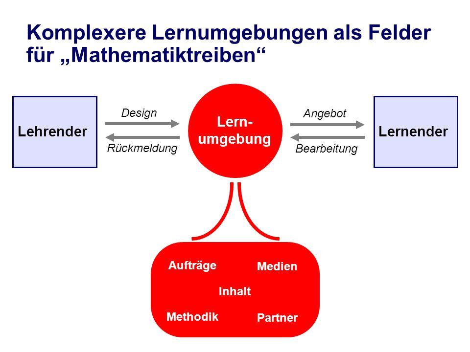 """Komplexere Lernumgebungen als Felder für """"Mathematiktreiben"""