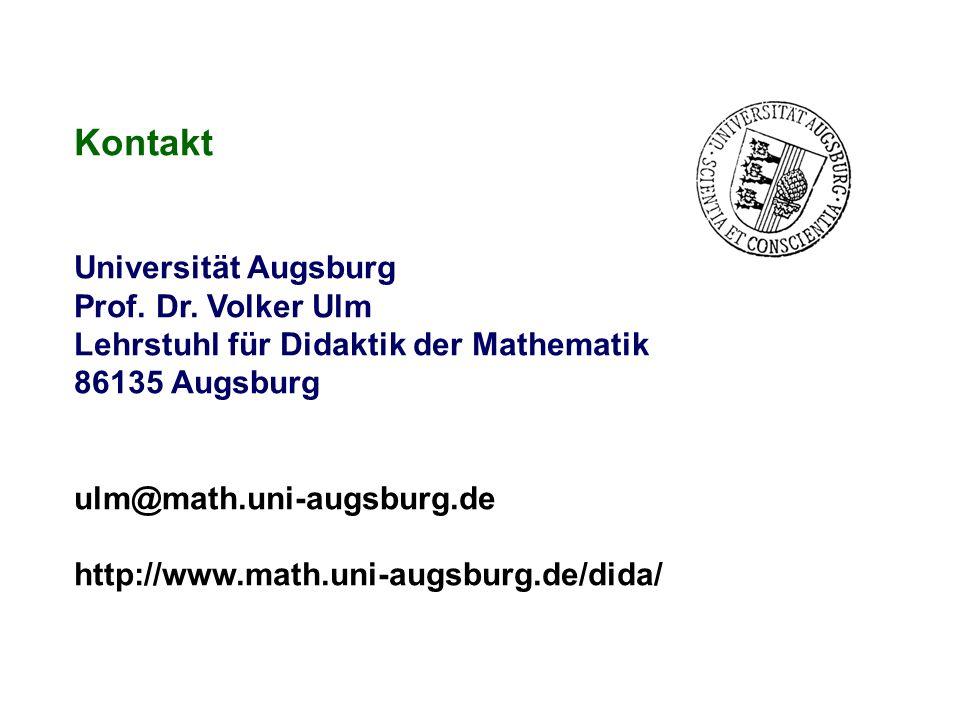 Kontakt Universität Augsburg Prof. Dr. Volker Ulm