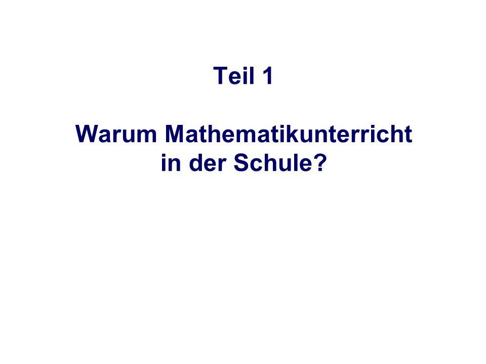 Warum Mathematikunterricht