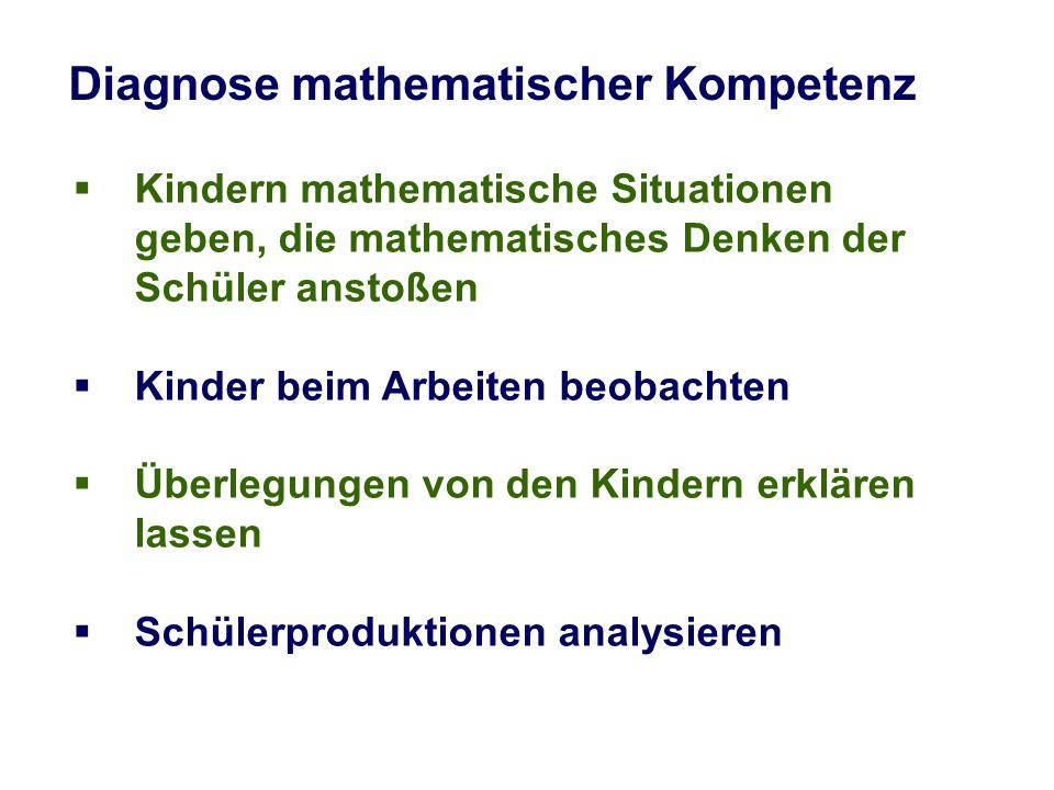 Diagnose mathematischer Kompetenz