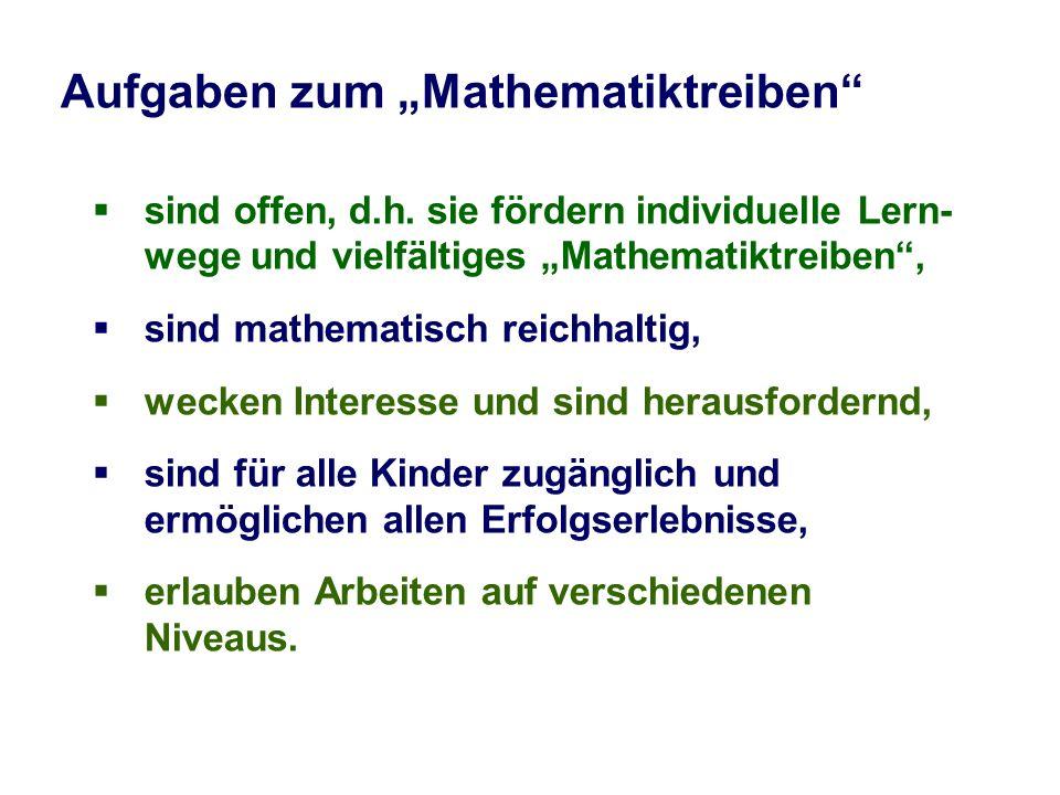 """Aufgaben zum """"Mathematiktreiben"""
