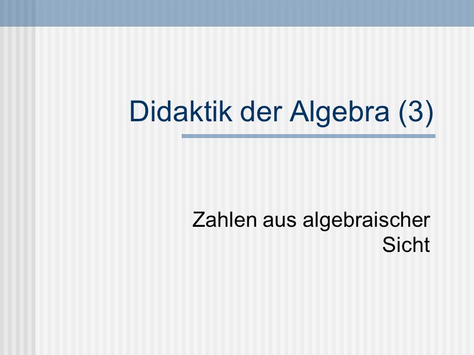 Didaktik der Algebra (3)