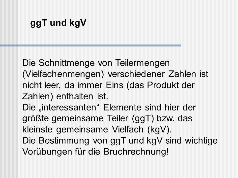 ggT und kgV