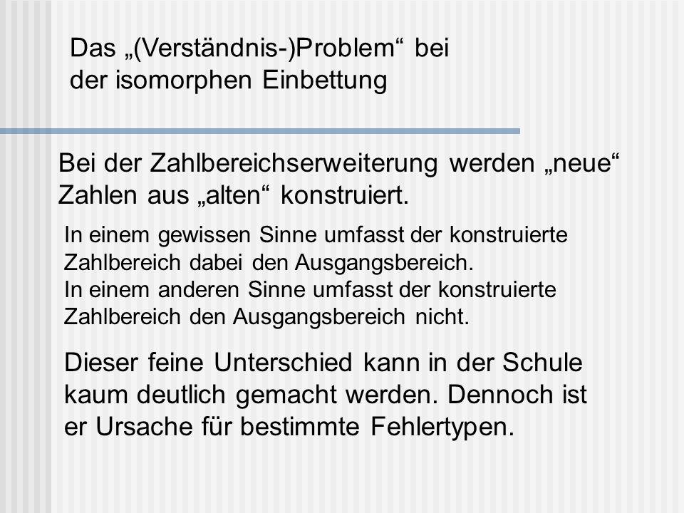 """Das """"(Verständnis-)Problem bei der isomorphen Einbettung"""