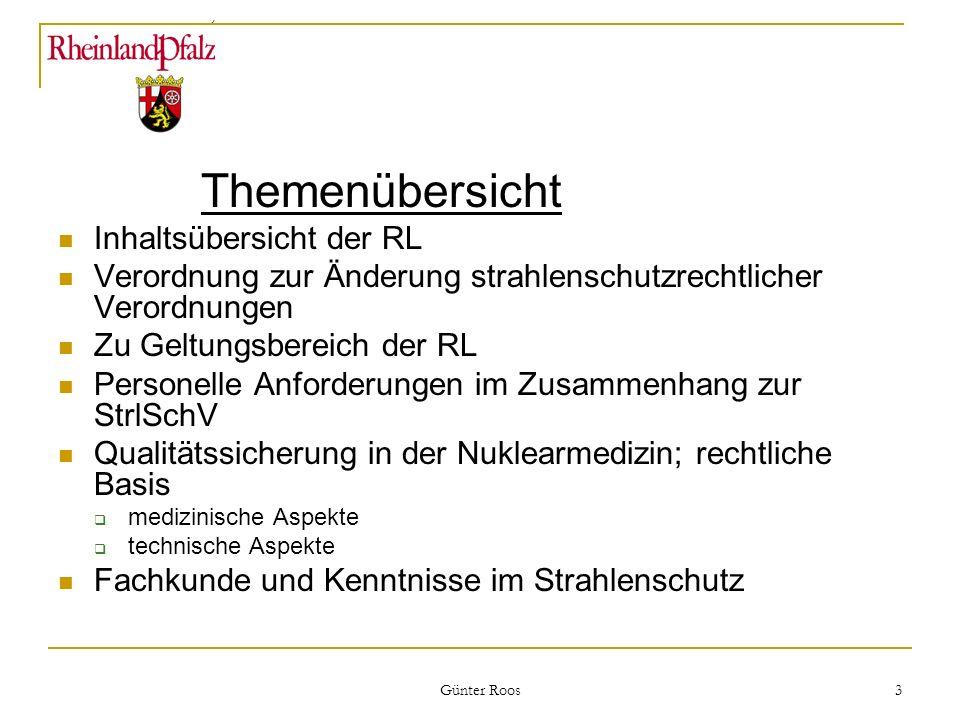 Themenübersicht Inhaltsübersicht der RL