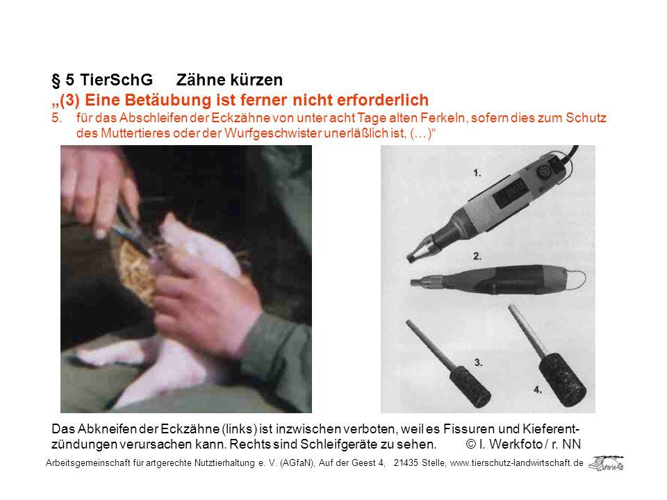 § 5 TierSchG Zähne kürzen