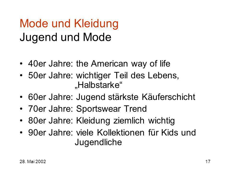 Mode und Kleidung Jugend und Mode
