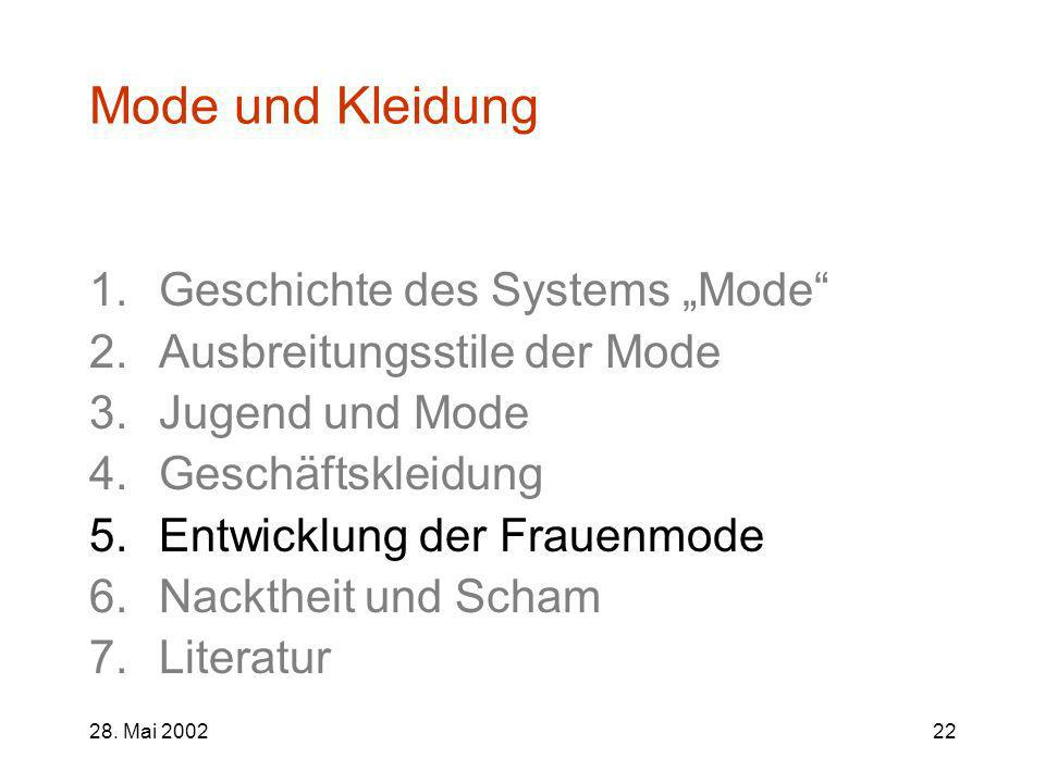 """Mode und Kleidung Geschichte des Systems """"Mode"""