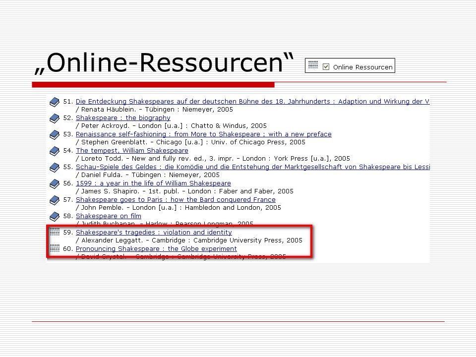 """""""Online-Ressourcen"""
