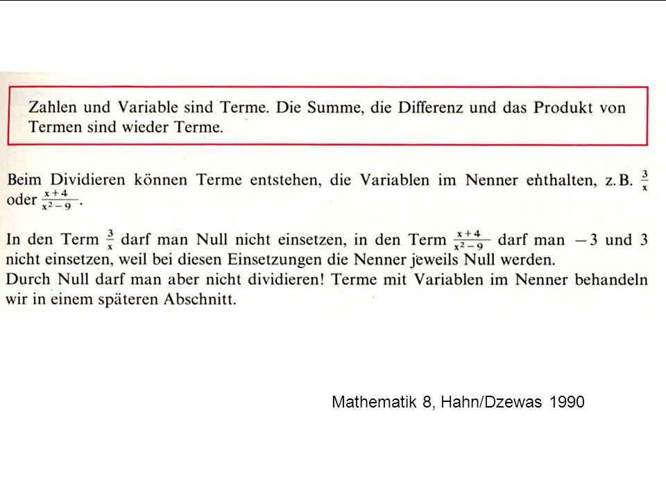 Mathematik 8, Hahn/Dzewas 1990