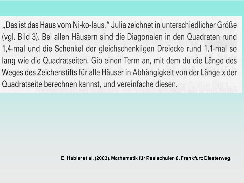 E. Habler et al. (2003). Mathematik für Realschulen 8