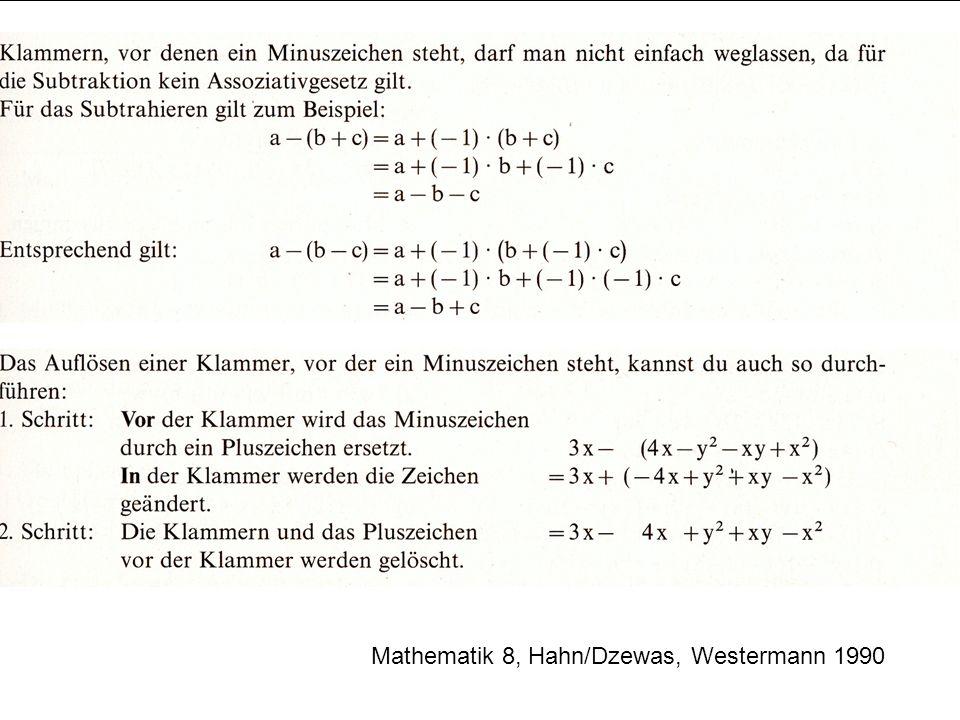 Mathematik 8, Hahn/Dzewas, Westermann 1990