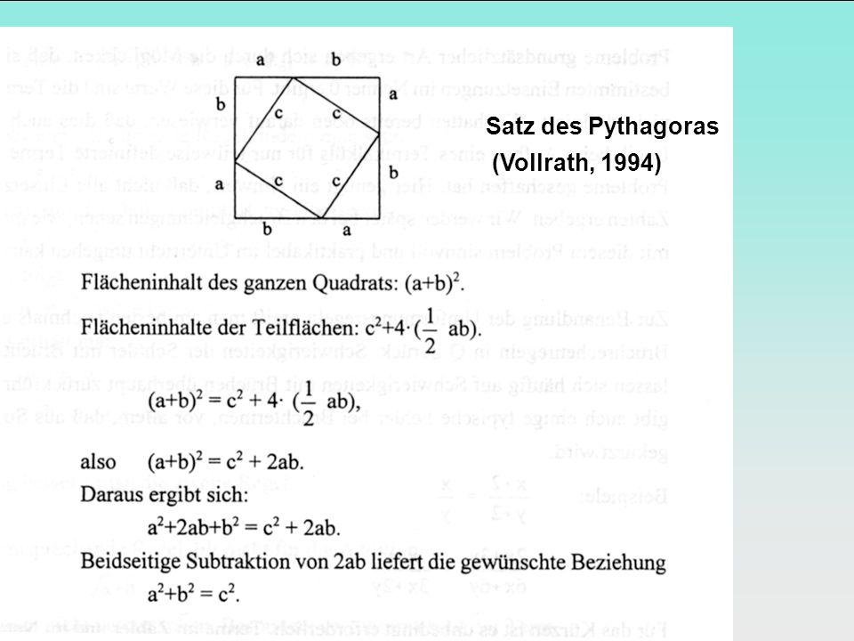 Satz des Pythagoras (Vollrath, 1994)