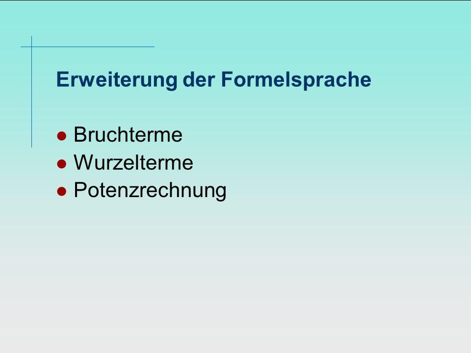 Erweiterung der Formelsprache