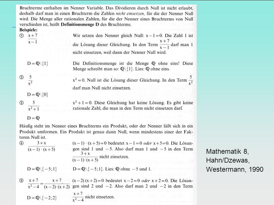 Mathematik 8, Hahn/Dzewas, Westermann, 1990