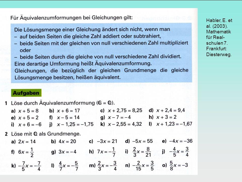 Habler, E. et al. (2003). Mathematik für Real-schulen 7