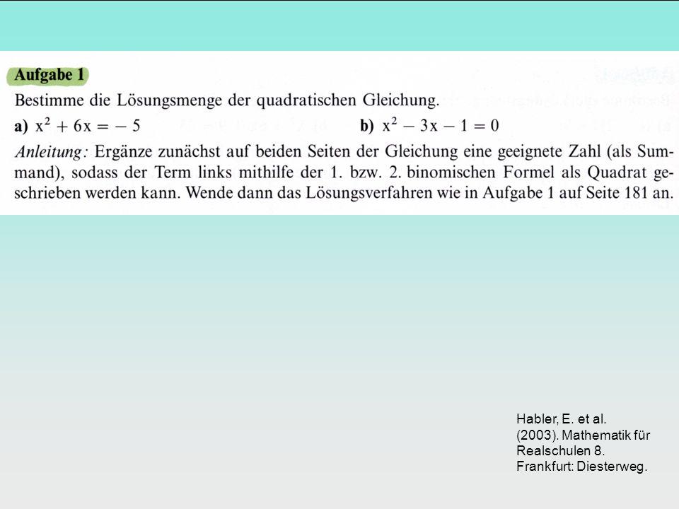 Habler, E. et al. (2003). Mathematik für Realschulen 8