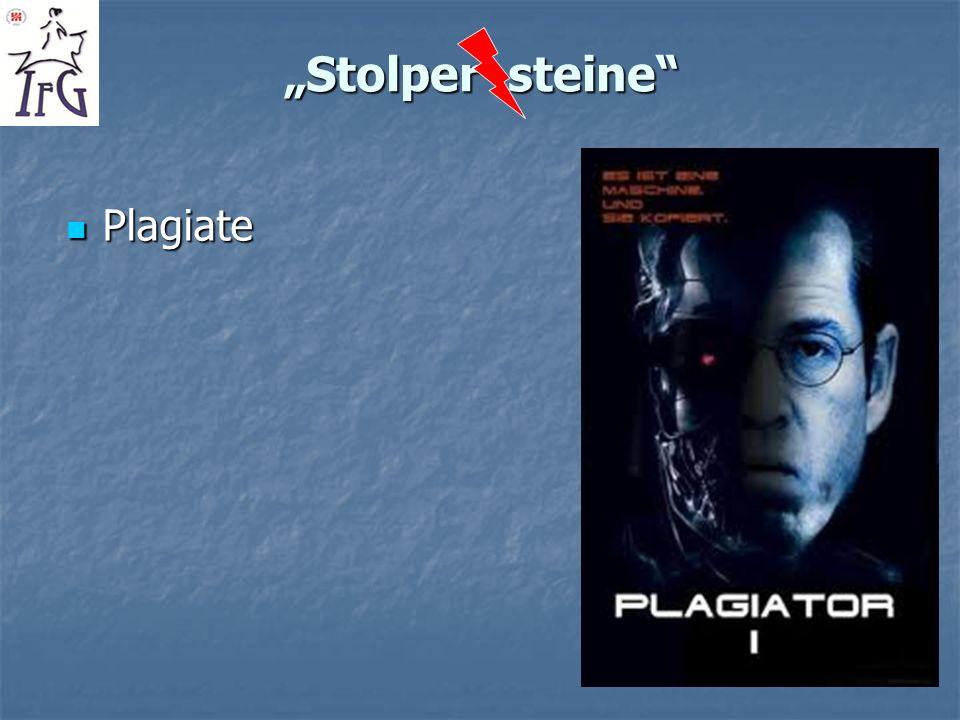 """""""Stolper steine Plagiate"""