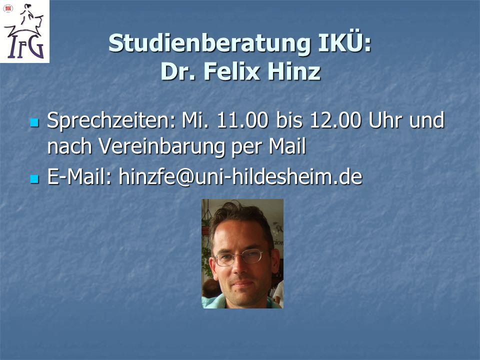 Studienberatung IKÜ: Dr. Felix Hinz