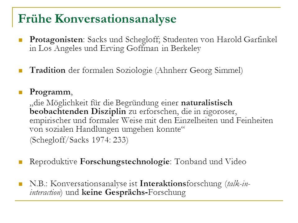 Frühe Konversationsanalyse