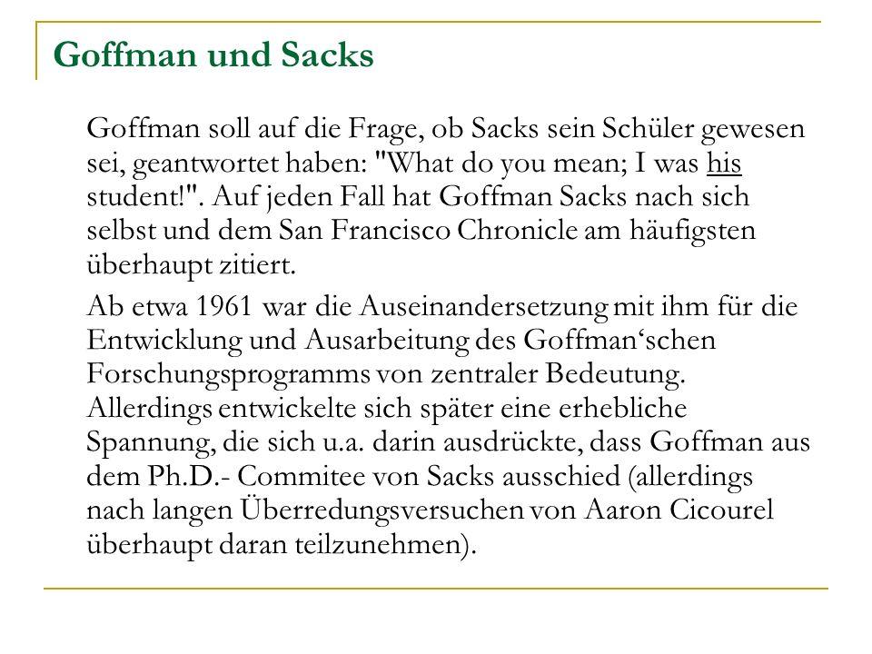 Goffman und Sacks