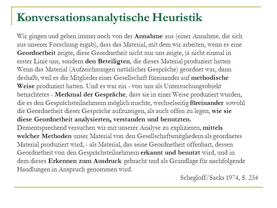 Konversationsanalytische Heuristik