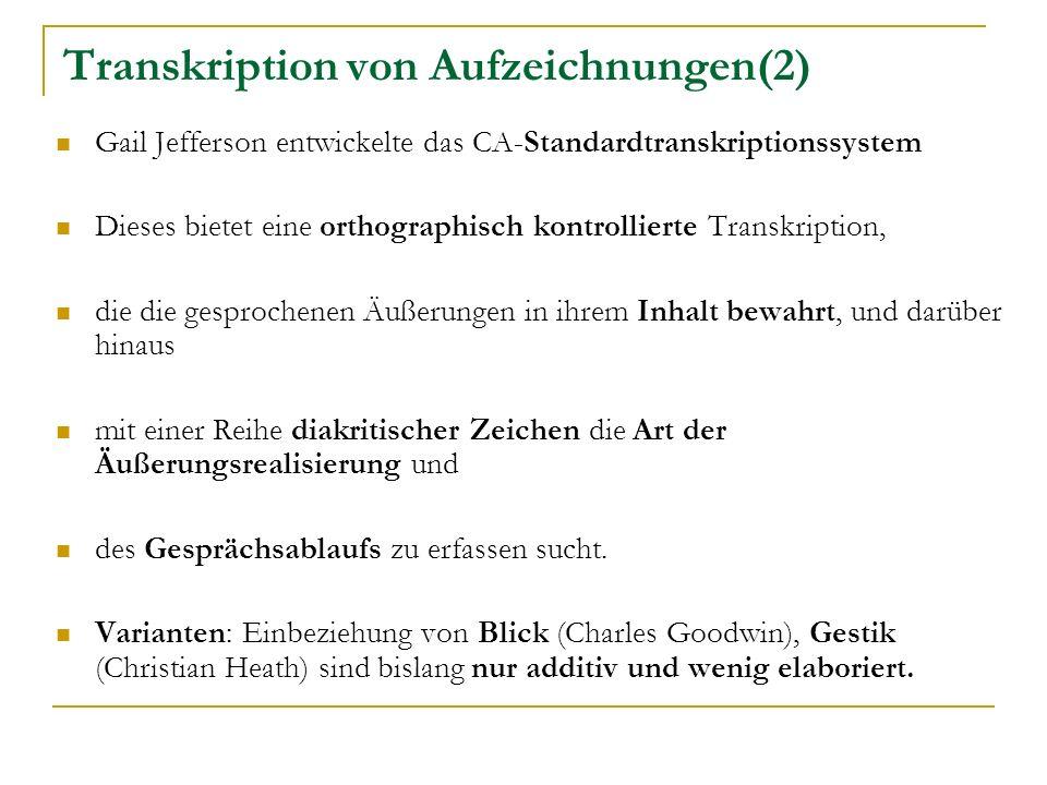 Transkription von Aufzeichnungen(2)