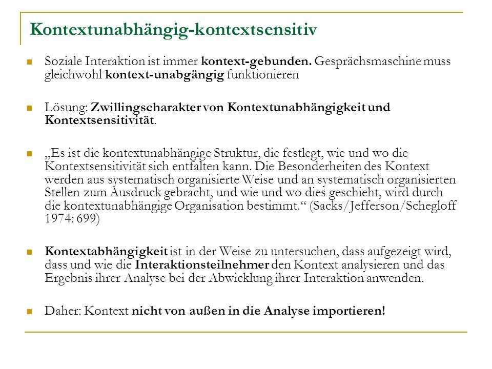 Kontextunabhängig-kontextsensitiv