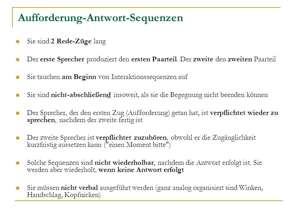Aufforderung-Antwort-Sequenzen