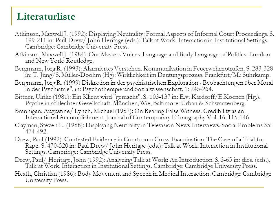 Literaturliste