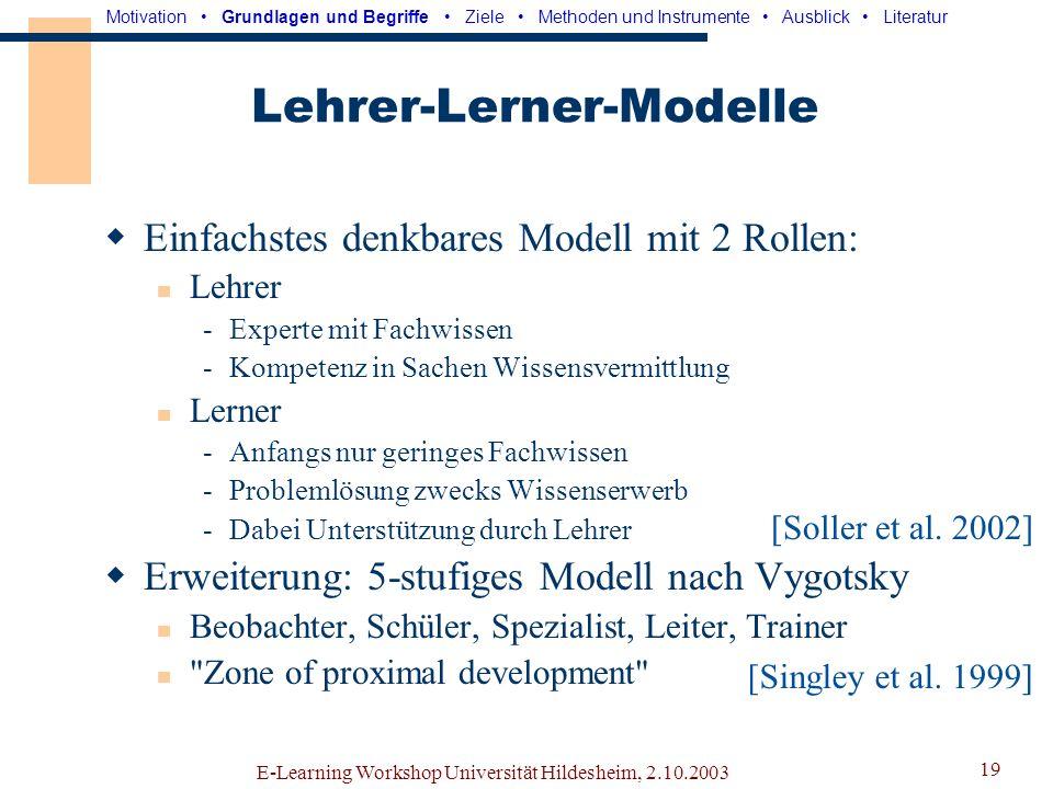 Lehrer-Lerner-Modelle