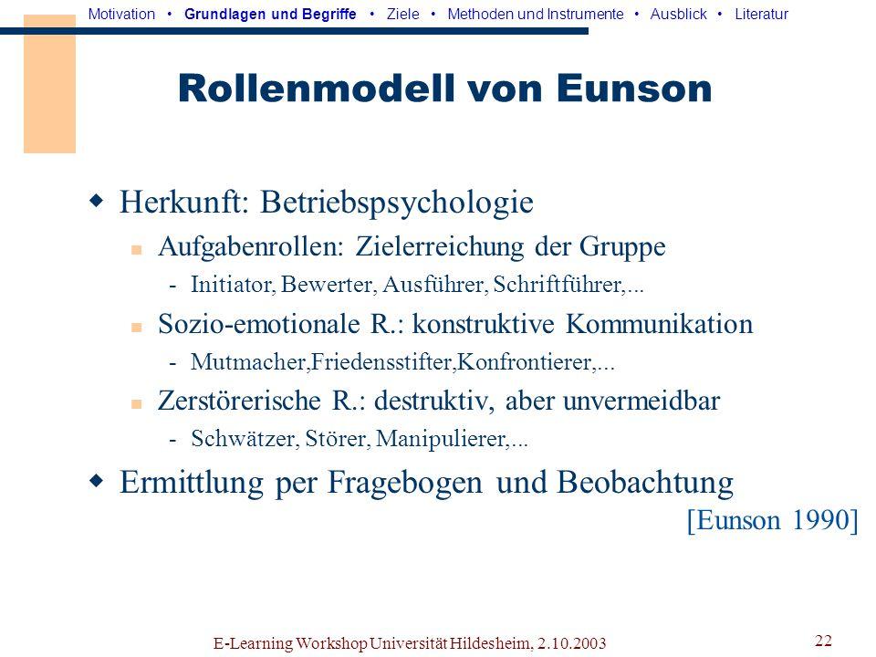Rollenmodell von Eunson