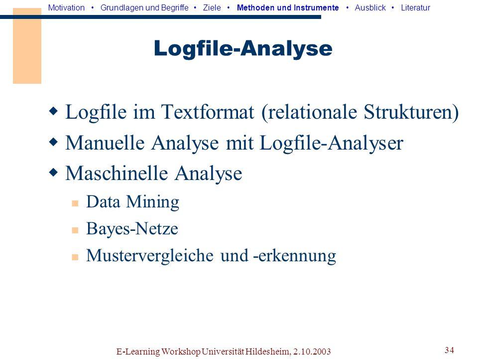 Logfile im Textformat (relationale Strukturen)