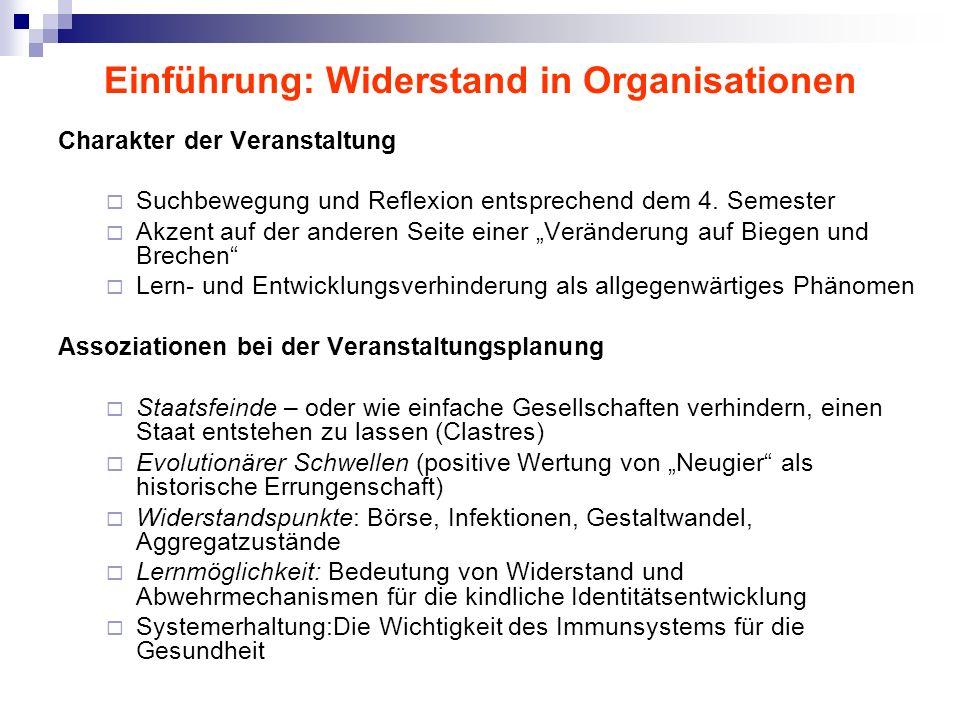 Einführung: Widerstand in Organisationen
