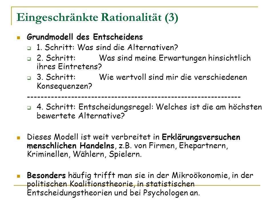 Eingeschränkte Rationalität (3)