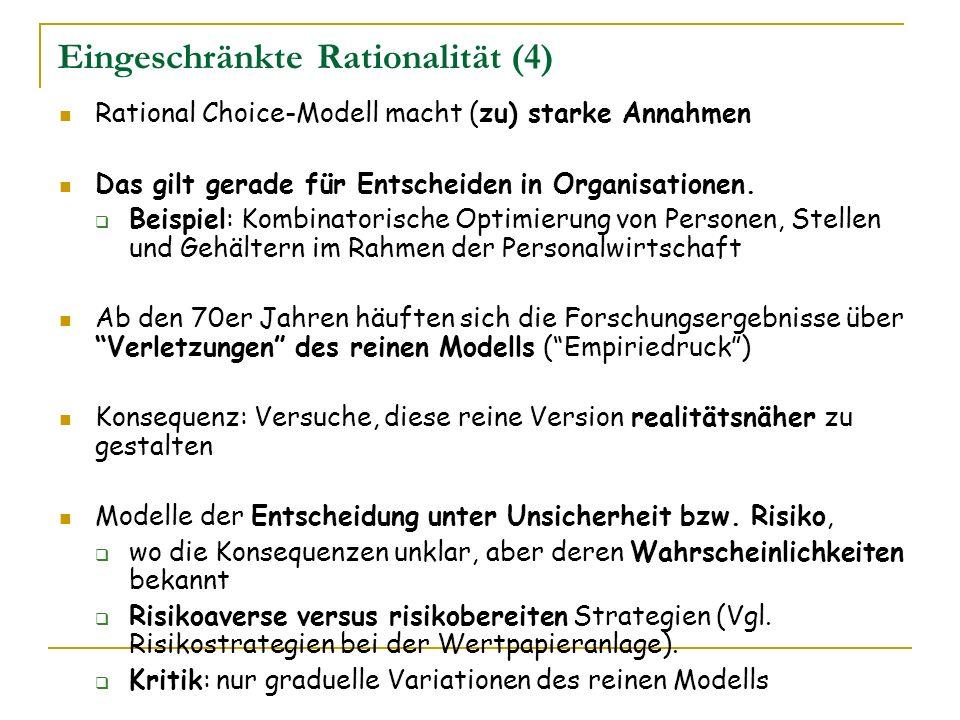Eingeschränkte Rationalität (4)